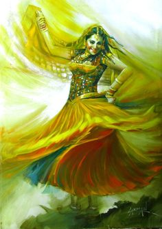 Buy Euphoria -II, a Oil on Canvas by Laxman Kumar from India. It portrays: World Culture, relevant to: Indianart, brushstrokes, Bollywood, LaxmaKumarArt, IndianTraditionalDance, IndianFolkDance, GirlDancing Indian Traditional Dance Series