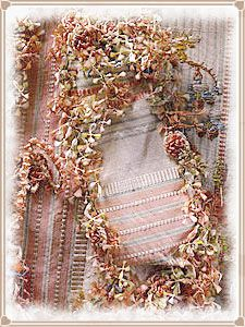 Fly fringe or Fly braid was a delightful trim of little silken tufts that was seen to adorn a great many dresses around the 1750's and 1770's, It's delicate 3D texture gave the impression of tiny weaving veins climbing up the clothes it adorned. - Tutorial