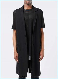 Topman AAA Black Sleeveless Jacket