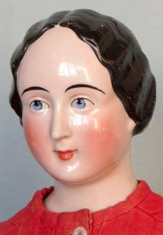 This tall antique china lady doll was born in in Germany. She wears her hair very fancy: a large sculpted comb is located in the center of Daughter Of Poseidon, China Dolls, Bisque Doll, Dolls Dolls, Antique China, Antique Dolls, Her Hair, Sculpting, Blessed