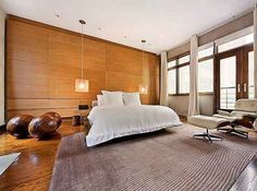a contemporary bedroom in Nordic style