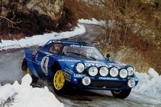 The official Lancia rally team stopped using the Stratos at the end of 1978, but this didn't stop private teams using the car to full effect.   Bernard Darniche entered a private Stratos on the 1979 Monte Carlo Rally