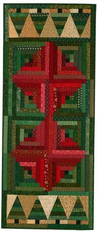 Free Christmas Table Runner Pattern: Christmas in the Cabin | December/January 2014 | Quilters Newsletter