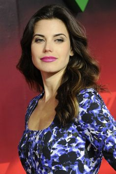 Meghan Ory rocks the orchid lipstick.