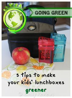 5 tips to make your kids lunchboxes more ecofriendly. Go with a wastefree lunch to go green while saving yourself money in the long run!
