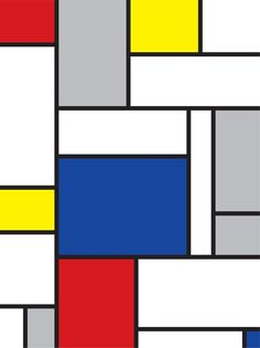 mondrian inspired art Wall Mural ✓ Easy Installation ✓ 365 Days to Return ✓ Browse other patterns from this collection! Piet Mondrian, White Wall Art, Large Wall Art, Modern Art Prints, Modern Wall Art, Modern Paintings, Geometric Artists, Wall Drawing, Mural Painting