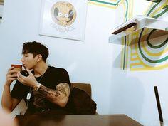 Image about tattoo in c-clown by yema gh on We Heart It Korean Boys Ulzzang, Ulzzang Boy, Old Grandpa, Christian Yu, C Clown, Ikon Member, Living In Korea, Asian Boys, Asian Men