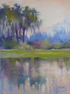 'Blue Bayou'  11x14, pastel  Karen Margulis  http://www.dailypaintworks.com/fineart/karen-margulis/listening-to-a-painting/132827