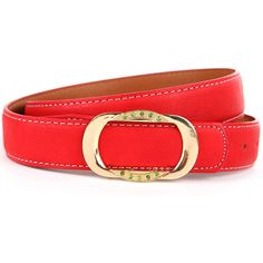 Maykool Red Faux Leather Rhinestone Buckle Belt ($7.99) ❤ liked on Polyvore featuring accessories, belts, red, red belt, loop belt, embellished belt, vegan belt and faux leather belt