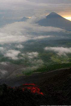view from Pacaya Volcano, Guatemala