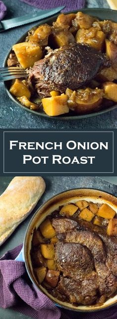 French Onion Pot Roast Recipe via @foxvalleyfoodie