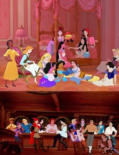 I love how its the girls and than their men and they all coordinate and than you've just got Tarzan down there even though Jane isn't in the top photo