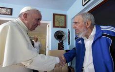 El papa Francisco se reunió con el líder histórico de la revolución cubana, Fidel Castro, en el segundo día de una gira por Cuba