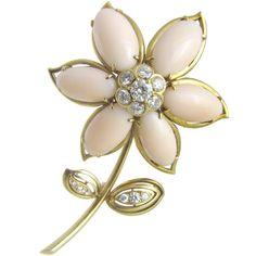 Van Cleef & Arpels Coral Diamond Brooch