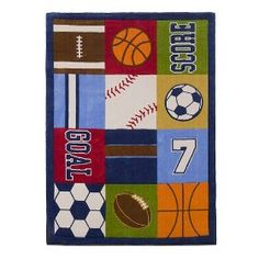 Kids Sports Room décor trends and fashion 2011 Kids Sports Bedroom, Sports Room Decor, Classroom Setting, Sports Stars, Office Walls, Christmas Gifts, Room Decorations, Kids Rooms, Rugs