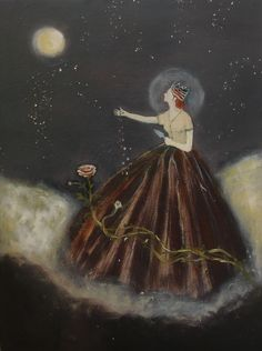 planting moon - art of Jeanie Tomanek