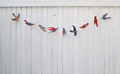 Illustrated bird garland kit by kayeblegvad on Etsy