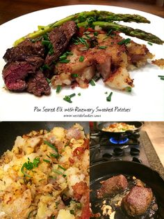 Pan Seared Elk with Smashed Rosemary Potatoes: Friday Night Dinner