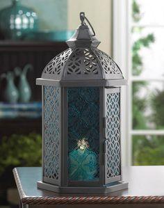 AEWholesale - Blue Glass Ornate Candle Lantern - 11.5 inches, $12.76 (http://www.aewholesale.com/blue-glass-ornate-candle-lantern-11-5-inches/)