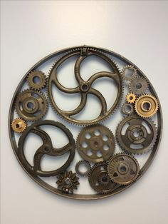 """""""Machine Age II"""" Found object metal wall sculpture by Timothy M Higgins Industrial, Steampunk"""