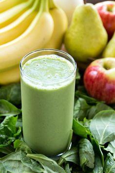 Tropical Green Smoothie Recipe - healthy breakfast on the go! Vegan, gluten free