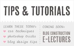 Blog Design Tips & Tutorials // Find it here: http://www.puglypixel.com/category/tutorials/