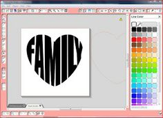 Tutorial--Making a Word into A Heart (or any shape for that matter) in Silhouett. - Plotts - Tutorial–Making a Word into A Heart (or any shape for that matter) in Silhouette Studio - Silhouette Cutter, Silhouette School, Silhouette Vinyl, Silhouette Portrait, Silhouette Machine, Silhouette Files, Silhouette Projects, Silhouette Design, Silhouette Studio