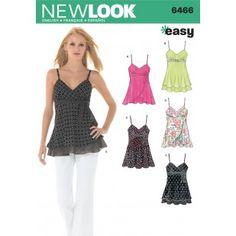 6466 - Tops | Vest | Jackets | Coats - New Look Patterns