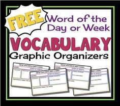 Have your students break down the meaning of difficult words with this vocabulary graphic organizer. Rather than simply memorizing a definition, students determine the part of speech, antonyms, synonyms, their own definition, and sentences using the word!