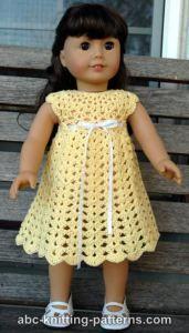 American Girl Doll Seashell Summer Dress ~ ABC Knitting Patterns