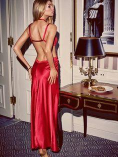 Red glam dress