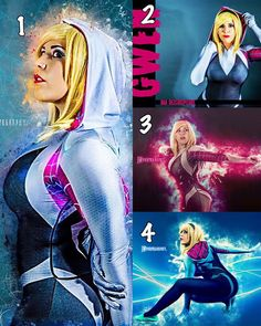 GUYS please help me pick!!! Which Gwen shot is your favorite that I've done this year?  vote in the comments please  #spidergwen #spiderman #gwenstacy #gwensday #Cosplay #cosplaygirl #CosplayBabes #spiderverse #marvel #spidey #spideysociety by dezcreepcore