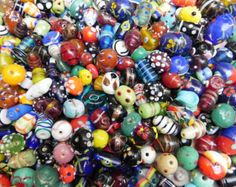 Assorted supper deluxe handmade SUPER DELUX LAMPWORK glassbeads mix  2 Pounds