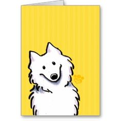 Samoyed Sunshine Stripes Greeting Card   Click on photo to purchase. Check out all current coupon offers and save! http://www.zazzle.com/coupons?rf=238785193994622463&tc=pin