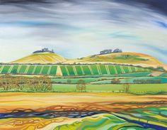 Wittenham Clumps and Castle Hill Anna Dillon Landscape Art, Landscape Paintings, Landscapes, The Clumps, 12 Image, Gcse Art, Archaeology, Impressionism, Castle