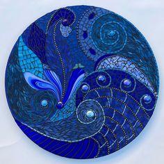 Mosaic Mandala by Rachel Greenberg #StainedGlassMandala #StainedGlassMosaic