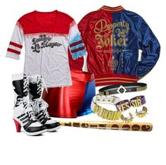 """""""Harley Quinn """" by laurabolovaneanu ❤ liked on Polyvore"""