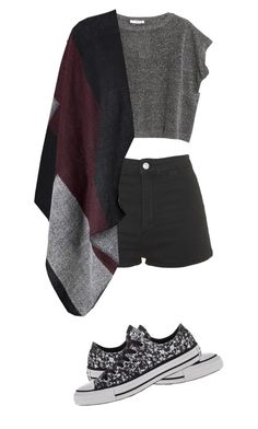 """""""One fine day"""" by drinkyourlottti ❤ liked on Polyvore featuring MANGO, Topshop and Converse"""