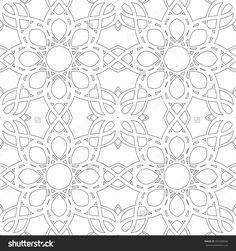 Black And White Seamless Pattern With Mandala Round Circular Ornament Banco de ilustração vetorial 355469066 : Shutterstock