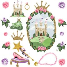 Castle Wall Sticker | Visit Wallstickeroutlet Com. Disney Princess ... Part 88
