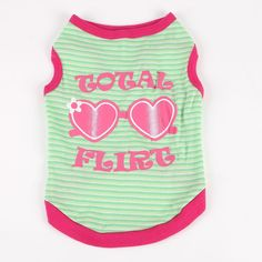 Commoditier Total Flirt Summer Puppy Clothes Small Dog Clothes Dog T-shirts * Additional details at the pin image, click it  : Dog Apparel and Accessories