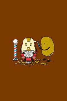 Potato barber!