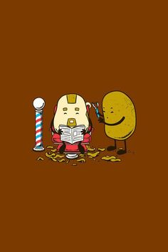 Potato barber!