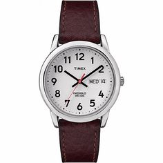 Shop for Timex Men's Easy Reader Brown Leather Strap Watch. Get free delivery On EVERYTHING* Overstock - Your Online Watches Store!