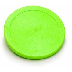 Set of 2 Original Dynamo 3 1//4 Inch Fluorescent Green Air Hockey Pucks