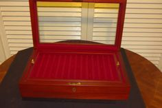 Bracelet Jewelry Box With Key And Glass Top By Eureka Mfg