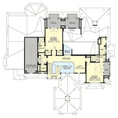 House plans, award winning custom & spec residential architecture since Street of Dreams Best in Show, affordable stock plans, customizable home designs. Best House Plans, House Floor Plans, Architectural Design House Plans, Architecture Design, Architectural Styles, Golf Room, Mountain House Plans, Garage Interior, Ceiling Treatments