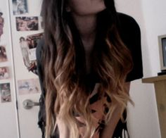 two colored long hair