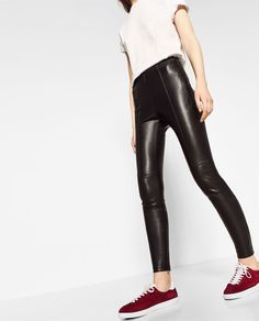 ZARA - COLLECTION SS/17 - LEATHER EFFECT LEGGINGS