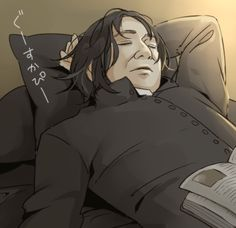 A peacefully sleeping Severus // Artist: skm